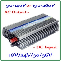 1000W On Grid Tie Micro MPPT Inverter 10.5 30V or 20 50V DC to AC90 140V or 190 260V for 1000 1200W 18V 24V 30V 36V solar panels