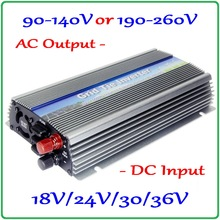 1000W On Grid Tie Micro MPPT Inverter 10.5-30V or 20-50V DC to AC90-140V or 190-260V for 1000-1200W 18V 24V 30V 36V solar panels
