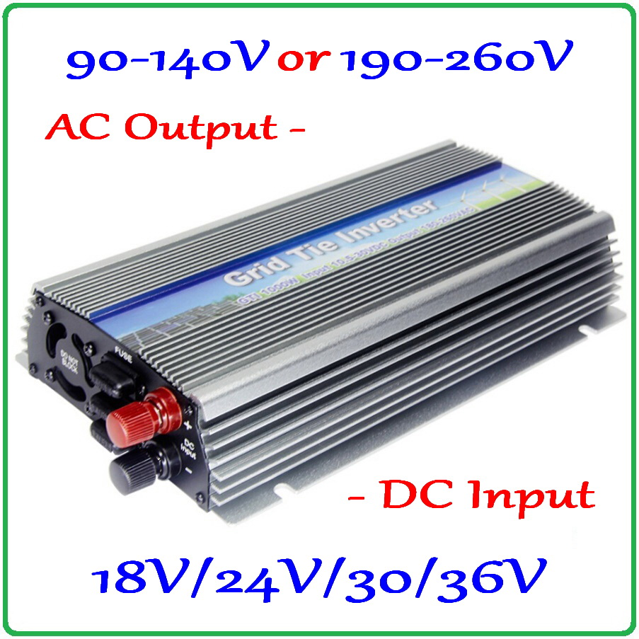 1000W On Grid Tie Micro MPPT Inverter 10.5-30V or 22-50V DC to AC90-140V or 190-260V for 1000-1200W 18V 24V 30V 36V solar panels 300w solar grid on tie inverter dc 10 8 30v input to two voltage ac output 90 130v 190 260v choice