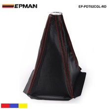 Универсальный черный углеродного волокна зерна ручка переключения загрузки крышка строчка красный(другой цвет: синий, желтый) для BMW e90 EP-PDT02CGL