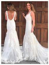 35860ff1fd3efcd 2019 г. пикантные Свадебные платья Русалочки цвета слоновой кости Vestidos  De Novia Sirena рукавов неформальный
