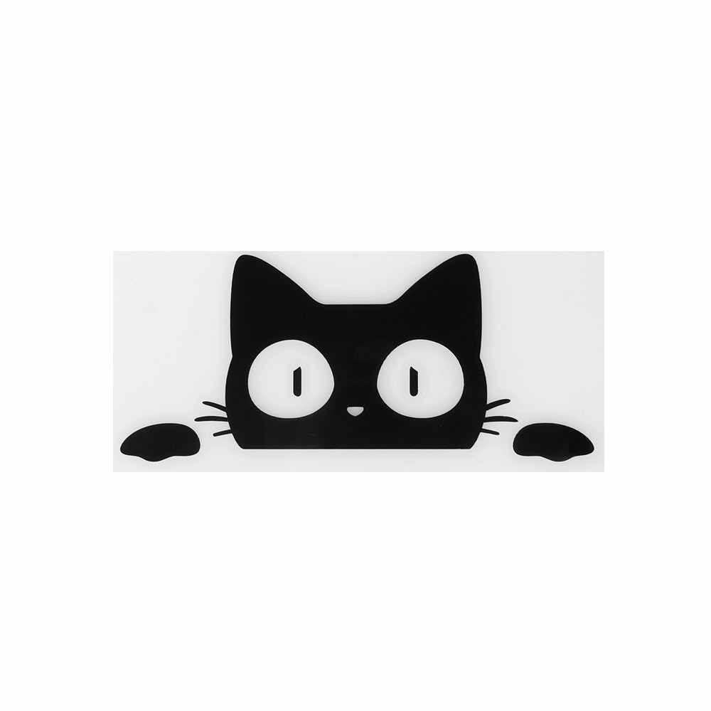 1 cái Đa Năng Bất Ngờ Mèo Nhìn Trộm Miếng Dán Màu Đen/Trắng Ngộ Nghĩnh Vinyl Decal Xe Kiểu Dáng Trang Trí Phụ Kiện 14CM * 6.2CM