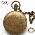 Подлинная 5 pin медь латунь механические часы мужчины действительно ретро античная локомотив полуавтомат T019