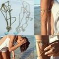 N94 2016 newest     Retro Boho Chain Tassel Imitation Turquoise Arm Cuff Armlet Armband Bracelet