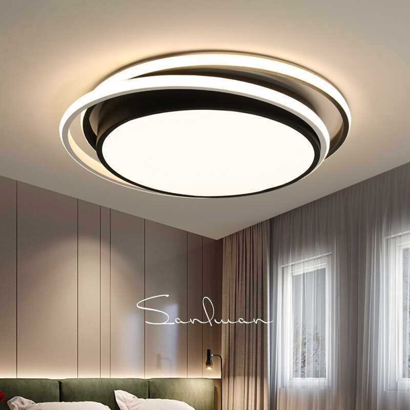 Square Led Ceiling Lights Living Room Bedroom Remote Control Lamparas De Techo Moderna Gold Coffee Frame Home Fixtures Ceiling Lights Lights & Lighting