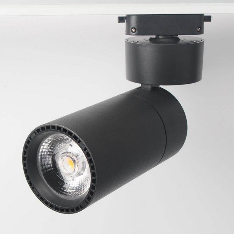LED Track Lighting 15W 20W 30W COB Dimmable Adjustable 360 Degree Rotatable Rail Spotlight for Home Shops Stores free shipping