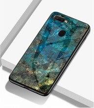 Leanonus Soft TPU Bumper Glass Case For Nokia 7 Plus Cover Tempered Coque 7Plus Marble Fundas