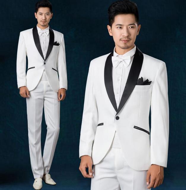 White mens suit wedding dress 2018 new arrival men slim fit suits ...