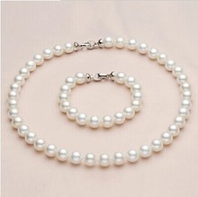 Eternal wedding Women Gift word 925 Sterling silver real Deep gift mother of Pearl Bead Necklace Bracelet collocation to long ne