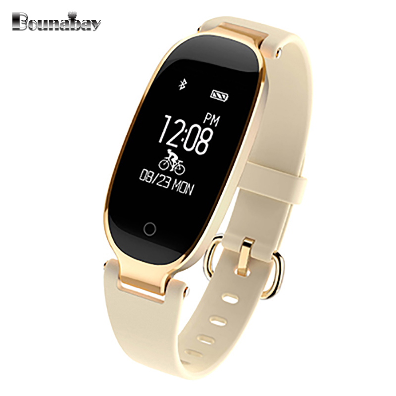 BOUNABAY Smart Bluetooth Bracelet watch for women touch watches Android ios phone ladies waterproof clocks lady wifi 3G M clock latest hi watch 2 bluetooth smart watch phone watch gps positioning micro letter generations for apple android ios phone