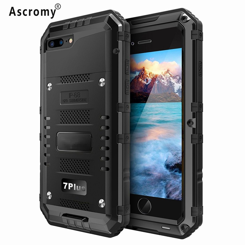 Ascromy Cover For iPhone 7 Plus IP68 Super Waterproof