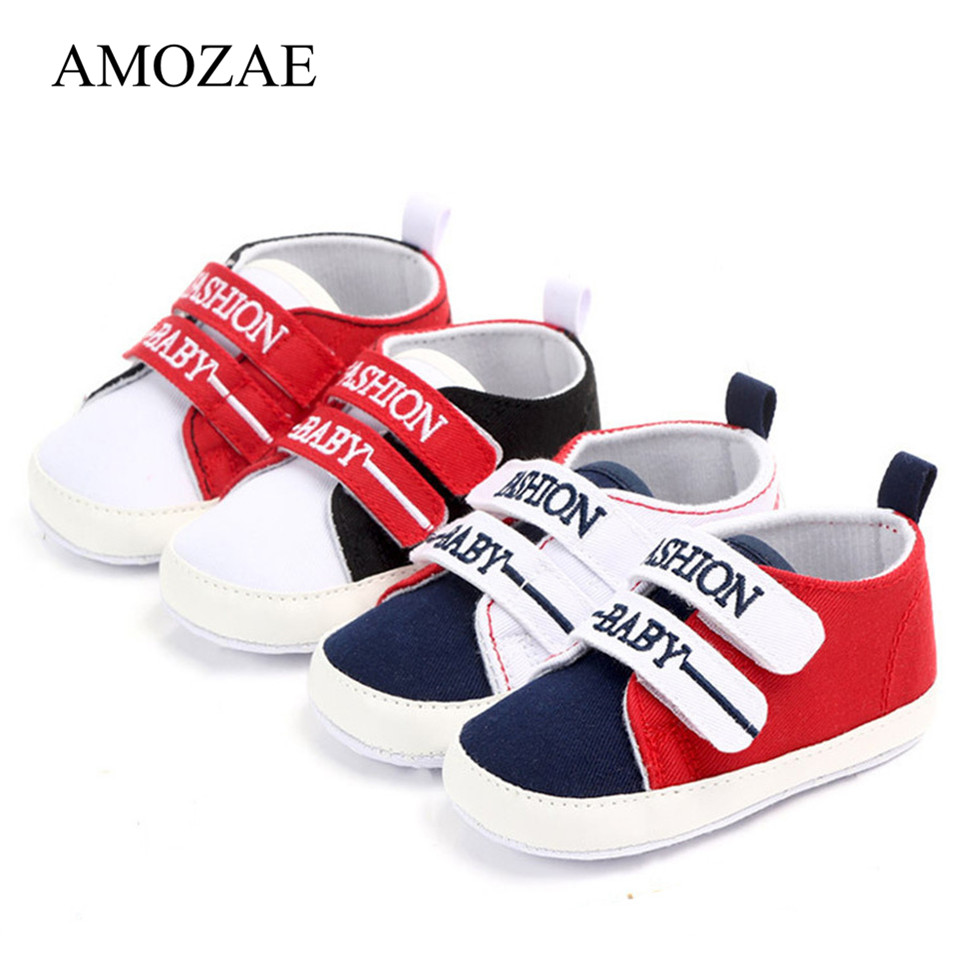 Spring Autumn Canvas Baby Shoes Fashion Mixed Colors Patchwork First Walker Baby Boys Girls Infant Toddler Soft Sole Kids Shoes
