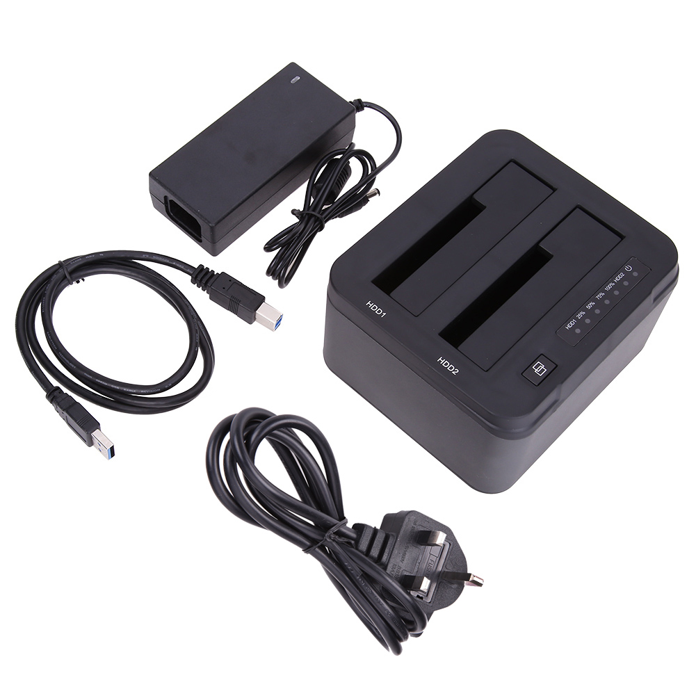 Usb 30 To Sata Dual Bay External Hard Drive Docking Station For 25 Orico 1 Inch Hdd Enclosure 2 2599us3 V1 Casing Hardisk Or 35inch Ssd Uk Standard In From Computer Office