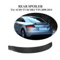 Carbon Fibre Rear Trunk Boot Spoiler Wing for AUDI TT 8J MK2 TTS Coupe Convertible 2 Door 2008 2014 Car Tuning Parts