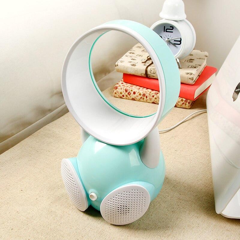 Online Shop Partable Tisch/Boden Elektrische Blattloser Ventilator Home  Office Kein Blatventilator Klimaanlage Lüfter Tischventilator Lautsprecher  ...