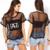 2016 Hot Summer Preto Perspectiva Malha Sexy T-shirt Cartas de Impressão de Manga Curta Mulheres Soltas Camisetas See-Through Clube Top Tees
