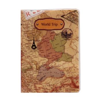 Nowy uchwyt na paszport podróże dla kobiet pcv okładka na paszport mapa świata paszport podróże okładka na paszport Case marka posiadacz paszportu moda tanie i dobre opinie NINEFOX 10inch 14cm World Map Passport Cover 22kg Paszport okładki 10cm GEOMETRIC