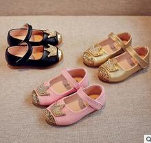 Girls shoes 2017 spring and autumn new leather shoes female baby princess shoes fashion dance girls casual shoes