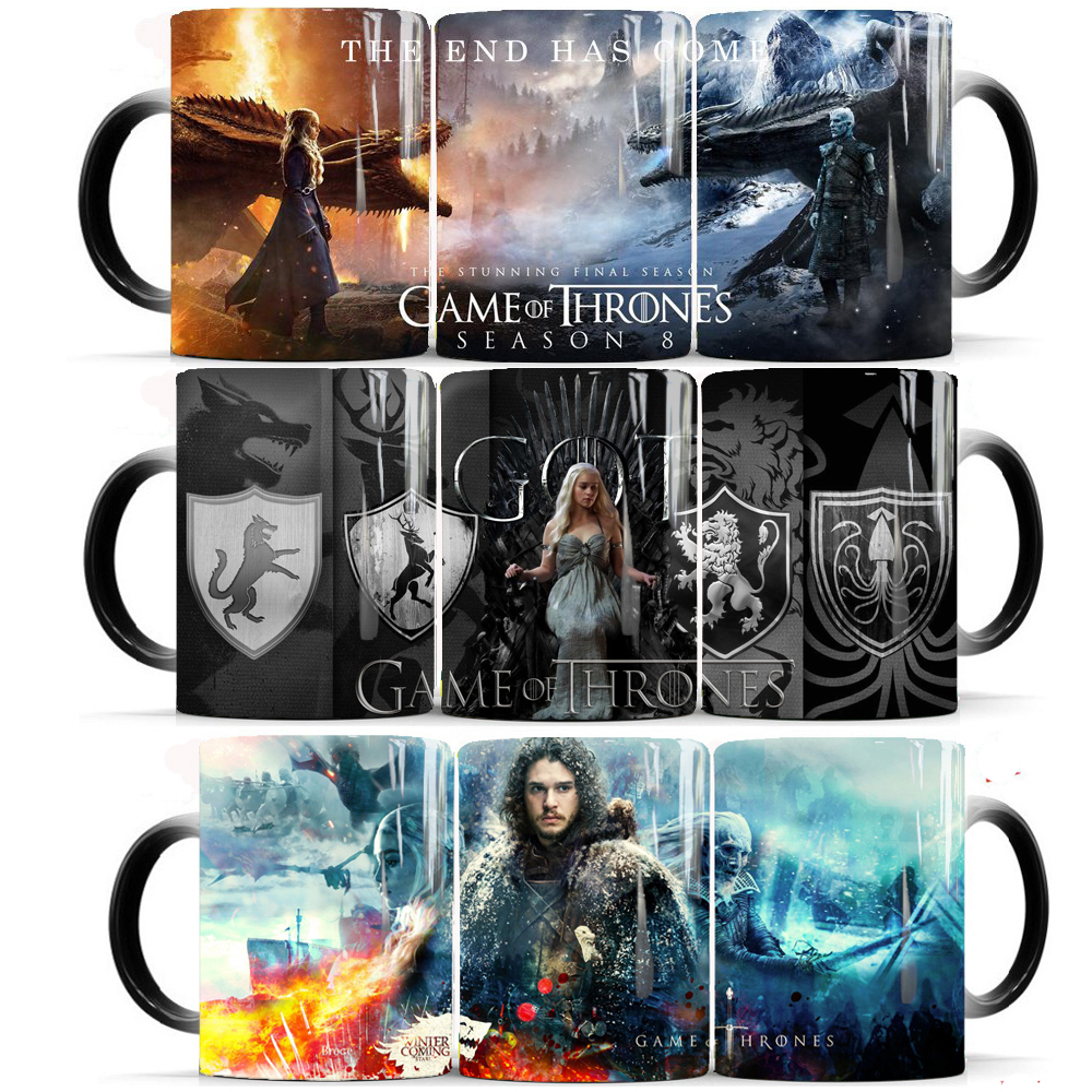 Game Of Thrones Coffee Magic Mug Hot Cold Color Changing Mug 350ml Ceramic Mugs Cup Gift Mug For Your Friends