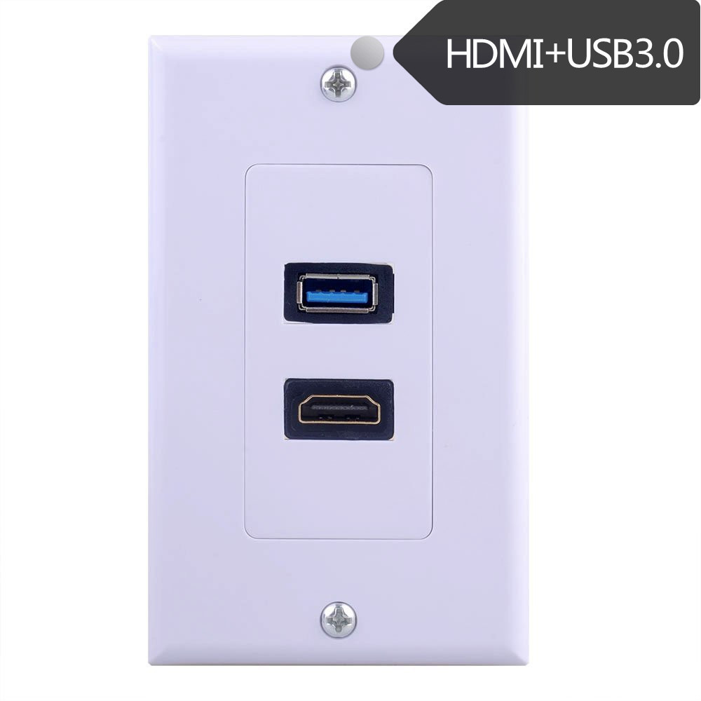 Hdmi Outlet Us 9 40 Off Hdmi And Usb 3 Wall Plate Usb 3 Hdmi Outlet Mount Socket Face Plate Cover In Computer Cables Connectors From Computer Office