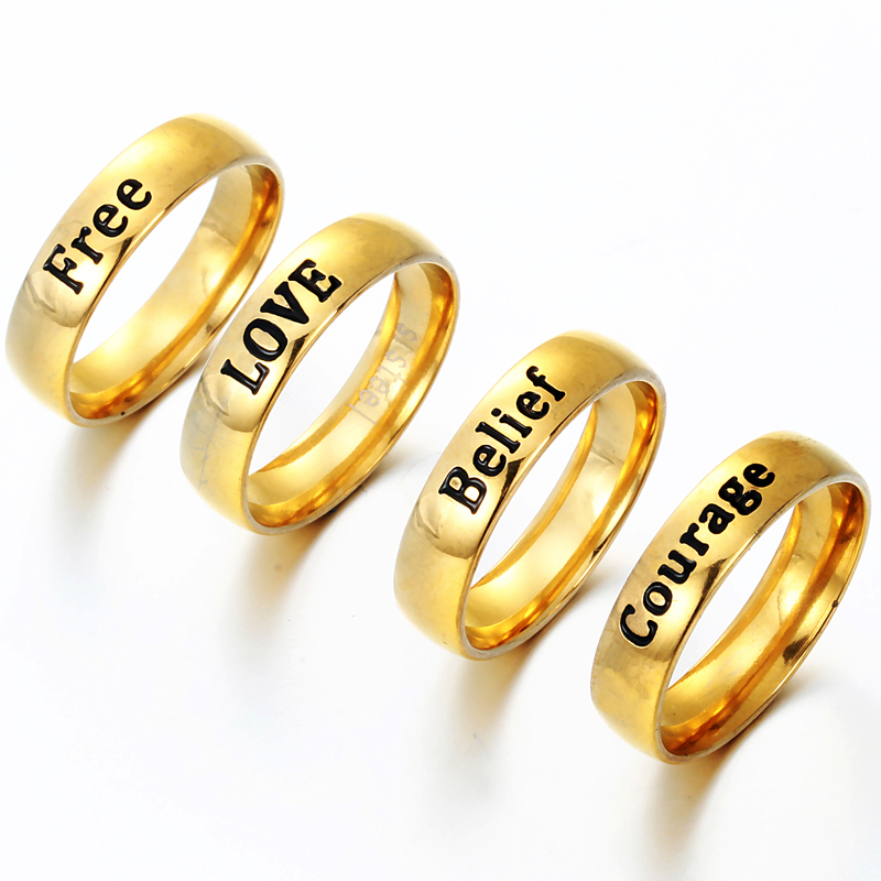 Factory Direct Engraved Titanium Stainless Steel Prayer Letter Rings The  One Lord Rings-in Wedding Bands from Jewelry & Accessories on  Aliexpress com