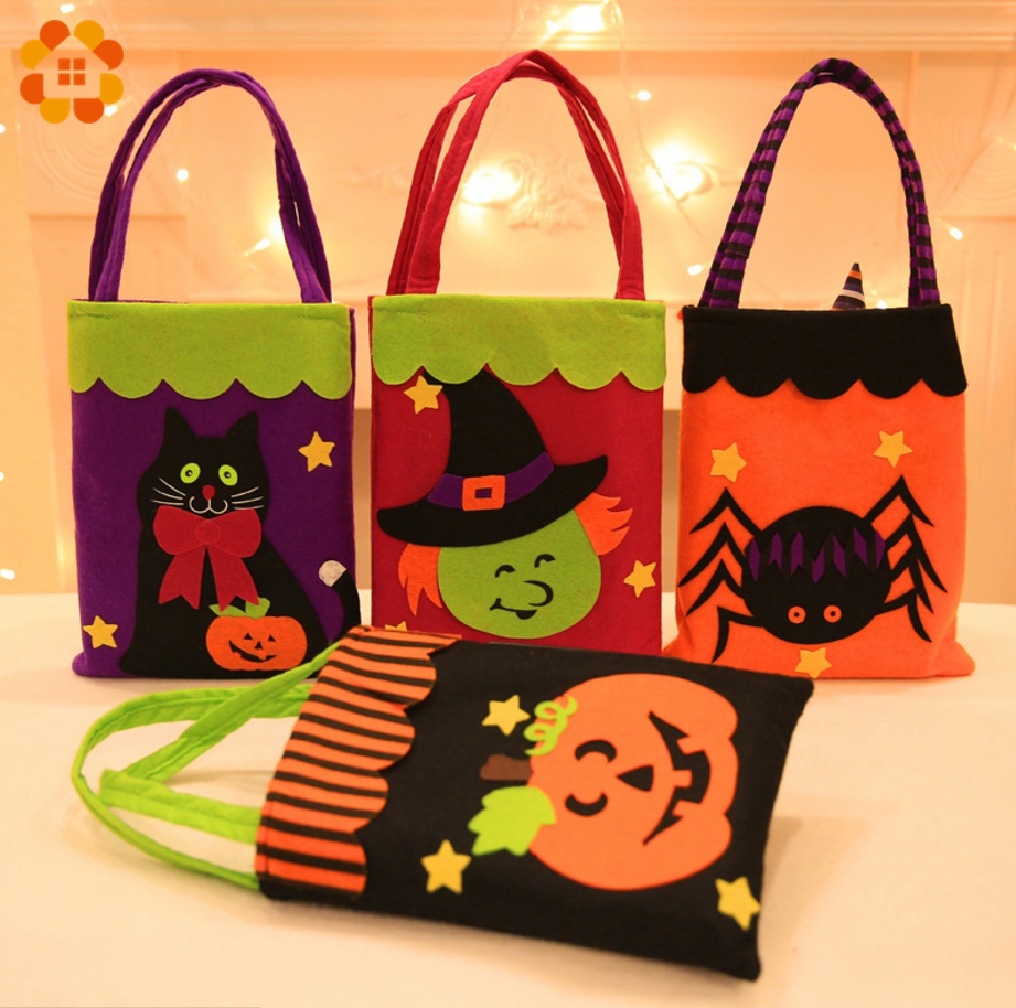 1pc candy bags halloween gift bags trick or treat kids gift