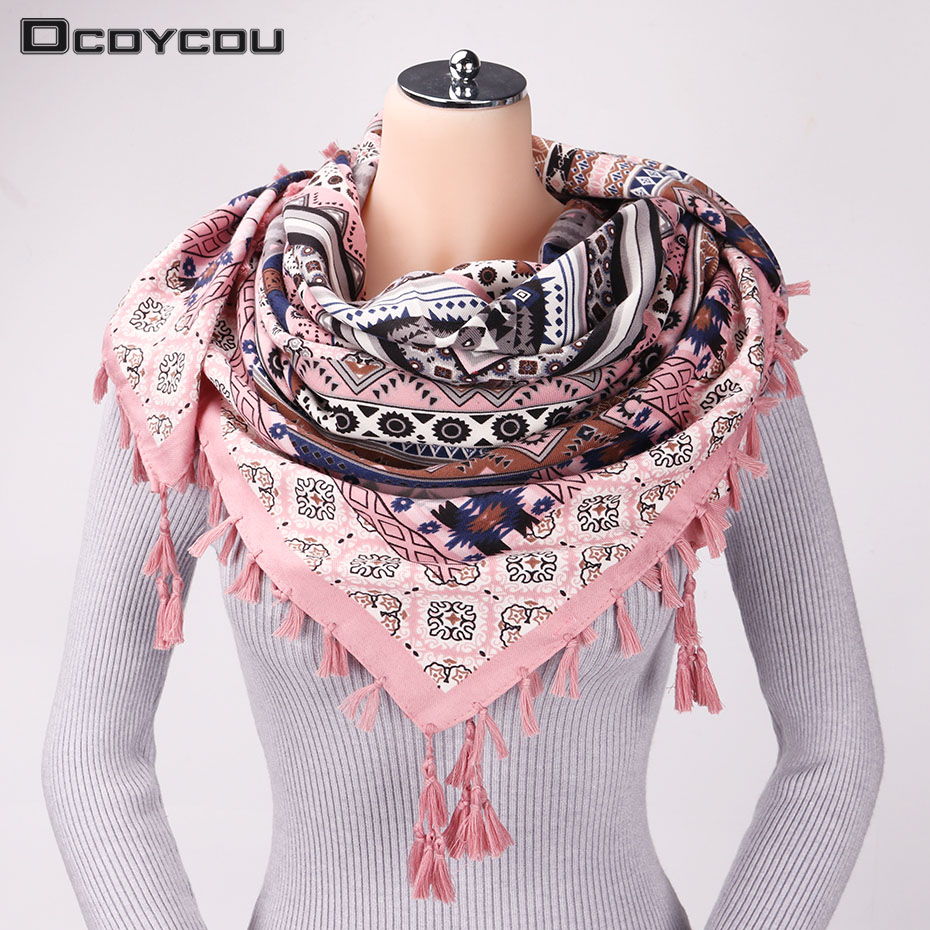 New Fashion National Style Woman Scarf Big Square Scarves Tas