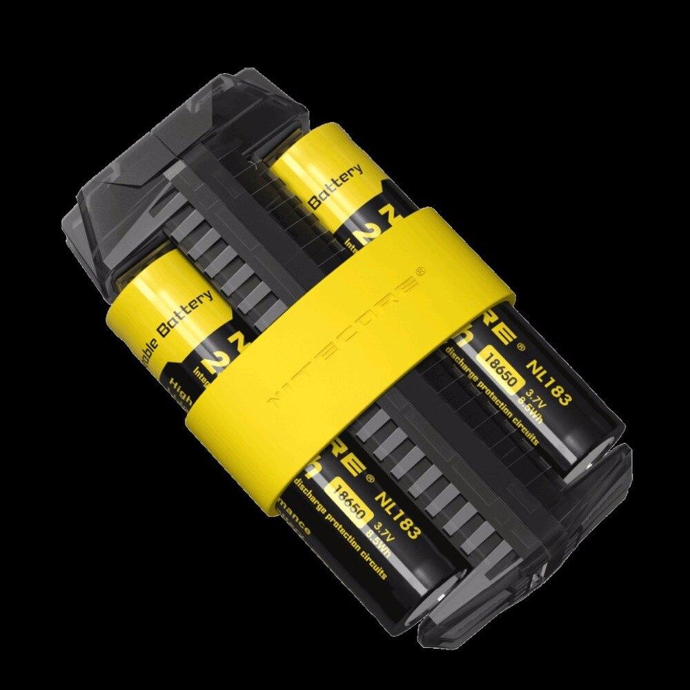 2017 nitecore f2 flessibile accumulatori e riserva di carica 2a smart li-ion imr batteria 2 slot adattatore caricatore usb fonte di energia portatile leggero