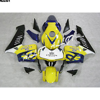 Yellow Injection ABS Plastic Fairings For Honda CBR600RR F5 Year 2003 2004