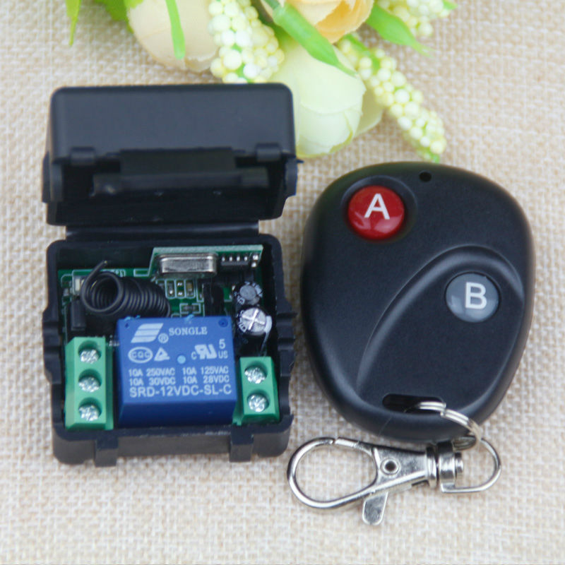 433Mhz Universal Wireless Remote Control Switch DC 12V 10A relay Receiver Module RF Tran ...