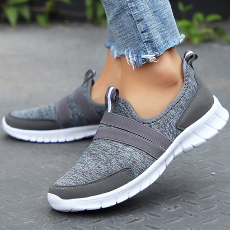 Women's Shoes Dropshipping Mesh Light Weight Female Shoe Size 36-47 Sneakers Women Soft Slip-on Chaussures Femme