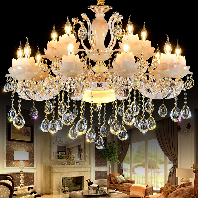 Gold Crystal Chandelier Luxury Living Room Decoration Lamp Zinc Alloy Dining Room Chandelier Lighting Modern led Chandeliers european crystal chandelier living room decoration home lighting luxury glass chandeliers hotel hanging lights indoor wall lamp