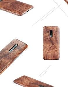 Image 4 - Funda trasera delgada de madera de caoba de palisandro de madera de enonía de nogal para Meizu 16th /16th Plus