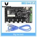 Mais recente impressora 3D V1.4 MKS Gen placa de controle Mega 2560 R3 Ramps1.4 RepRap motherboard compatível, com USB
