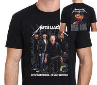 New Metallica Hardwired World Tour 2018 T Shirt Man Size: S To Xxl