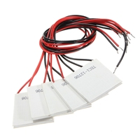 5pcs TEC1 12706 Heatsink Thermoelectric Cooler Cool Plate Module 12V 6A 72W Air Conditioner Parts     -