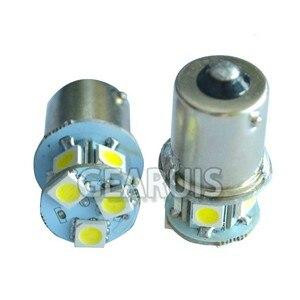 Image 2 - 100X شاحنة LED 24 فولت S25 P21W BA15S 1156 8 SMD 5050 LED 8SMD حافلة بدوره مصباح إشارة بارك السيارات مصباح إسفين لمبات الباردة الأبيض 24 فولت