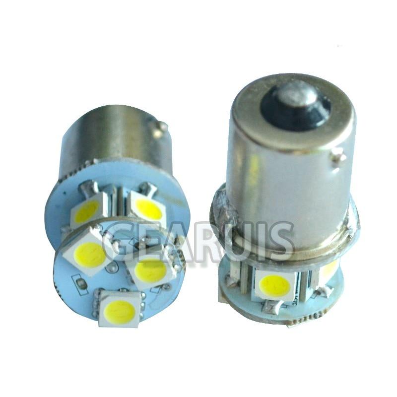 Image 2 - 100X Truck LED 24V S25 P21W BA15S 1156 8 SMD 5050 LED 8SMD Bus  Turn signal Light Park Automobile Lamp Wedge Bulbs Cold white 24Vbulb  24vbulb ledbulb ba15s
