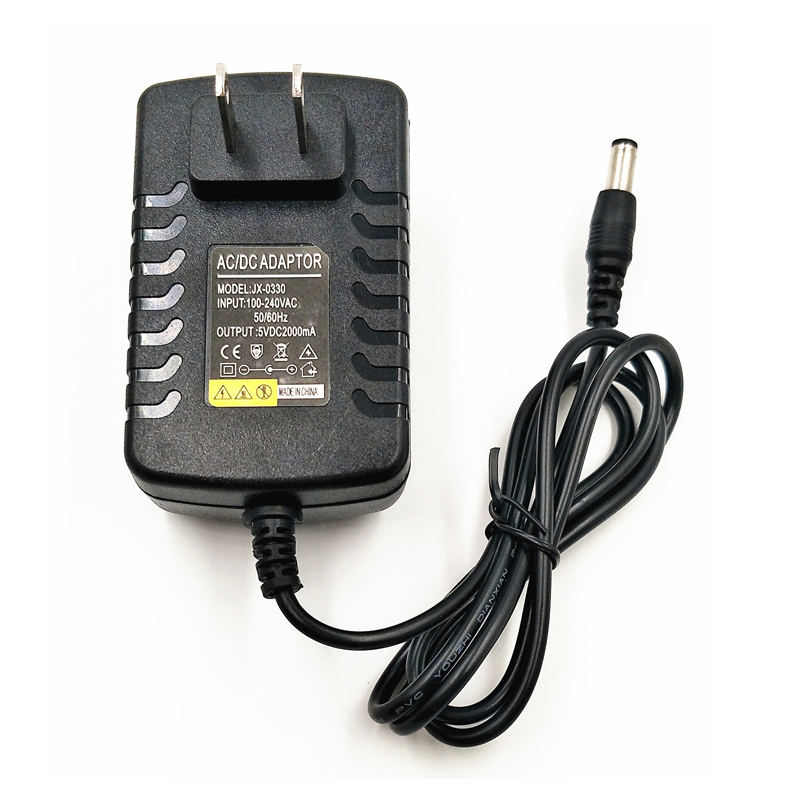 5V 2A AC//DC 3.5mm US Plug Power Supply Adapter Converter Tablet Charger PC Black