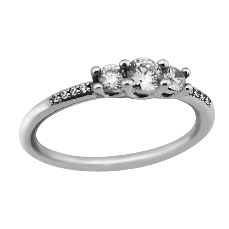 #52-58 Wedding Ring 925 Sterling Silver Fairytale With