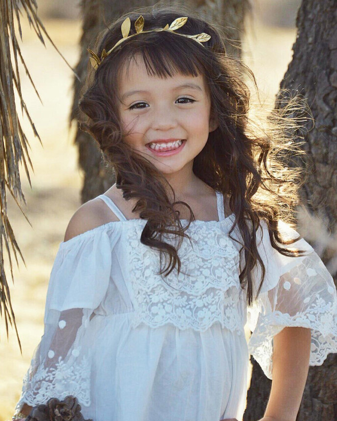 Lace Girl Clothing Princess Dress Kid Baby Party Wedding Pageant Formal Mini Cute White Dresses Clothes Baby Girls 5