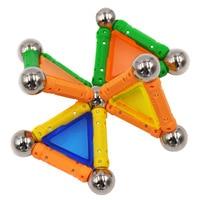 50pcs Magnet Toy Bars Metal Balls Magnetic Building Blocks Construction Toys For Children DIY Designer Educational
