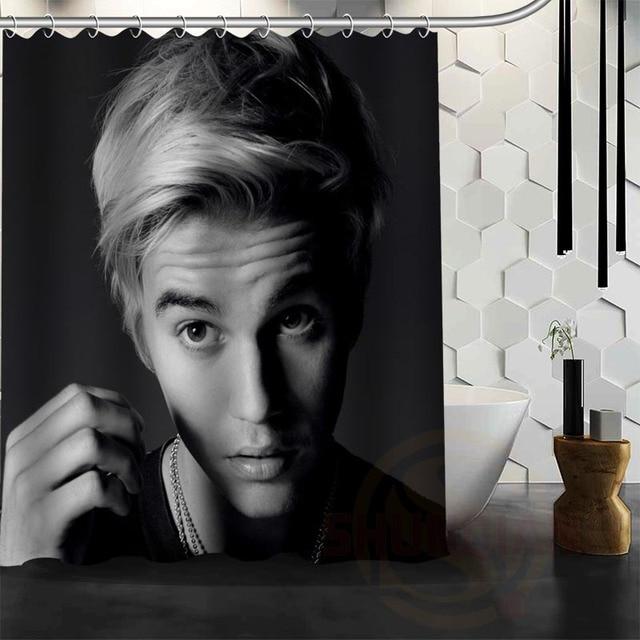 Best Nice Custom Justin Bieber Shower Curtain Bath Waterproof Fabric For Bathroom MORE SIZE WJY