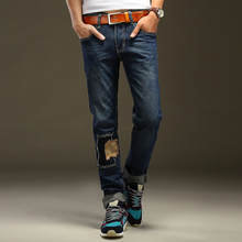 2016 Nostalgia Retro Ripped Jeans For Men Fashion Designer Printed Jeans Italy Famous Brand Mens Jeans,High Quality MB16040 Z20