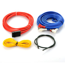 4.5m Car Audio Wire RCA Amplifier Subwoofer Cable Speaker Wire Power Cable Fuse Holder Installation Speaker Wire Kit