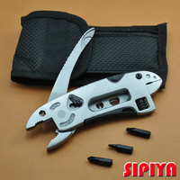 Camping Survival Multi Tool Knife Gear EDC Tools Set Adjustable Wrench Jaw Screwdriver Pliers Tools Hunting