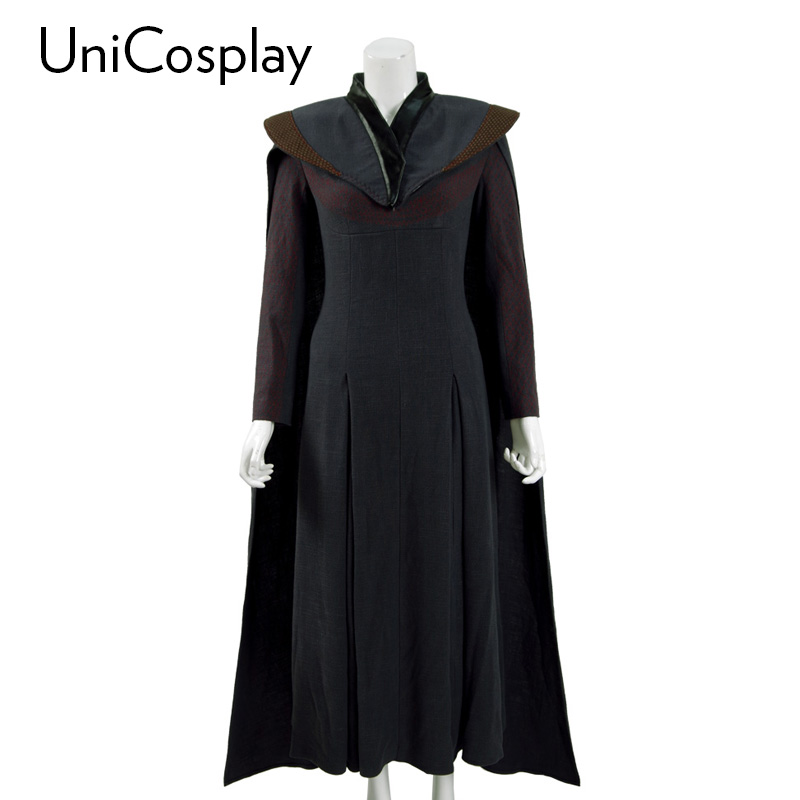 Game of Thrones Season 7 Daenerys Targaryen Cosplay Costume Mother of Dragons Queen Cloak Dress Outwear