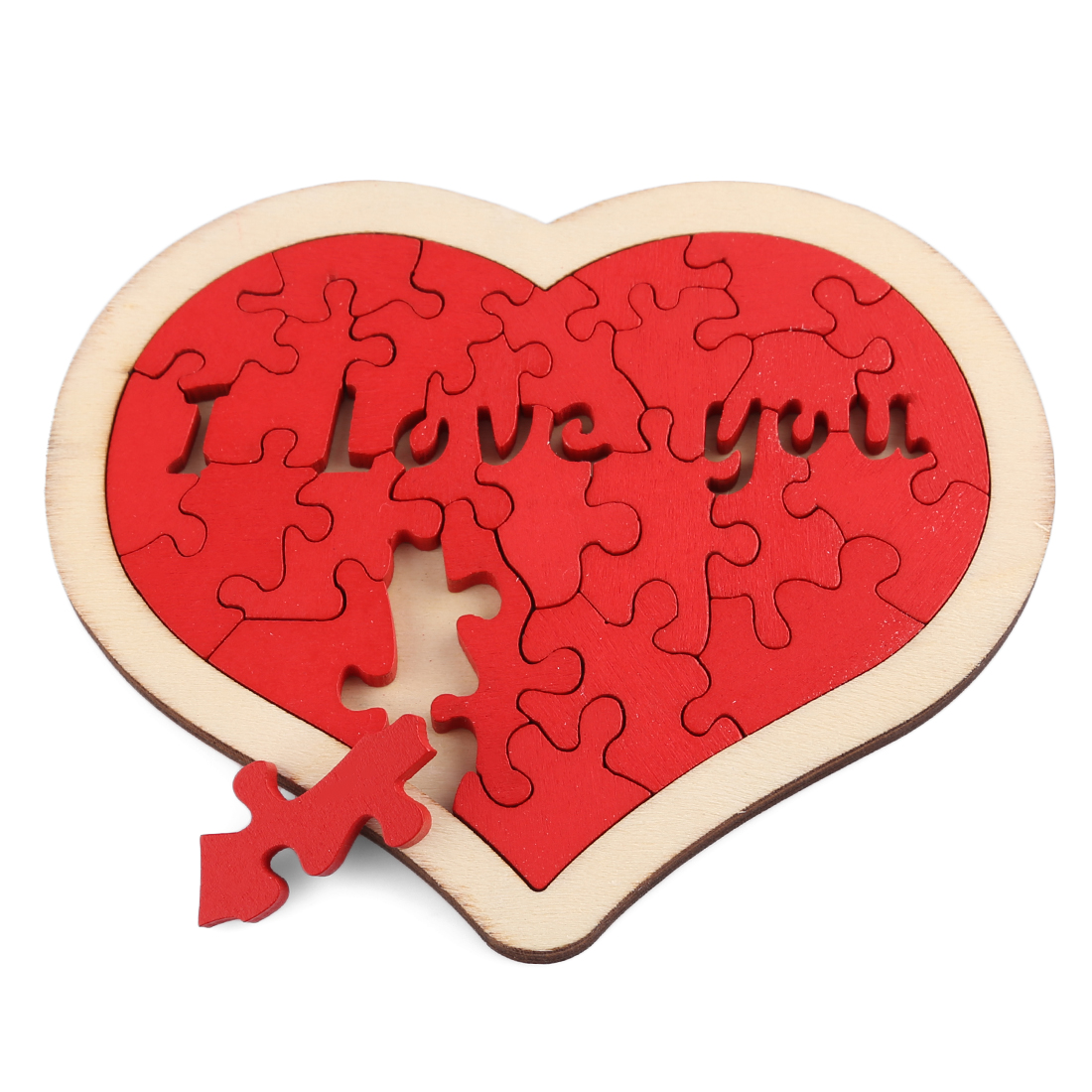 1/3/5 Pcs Love Heart Pattern Jigsaw Puzzle Wooden Toys Set Development And Education Toys Girlfriends Valentine's Gift Drop Sale