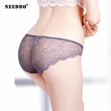NEEDBO Lace Sexy Panties Women Low Waist Underwear Seamless Brief Culotte Femme womens panties Underpant