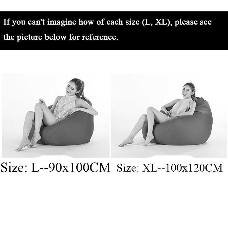 Tela de terciopelo Puff tumbona sofá sillas al aire libre PUF Puff sofá perezoso bolsa de frijol sofá sin relleno asiento muebles para el hogar